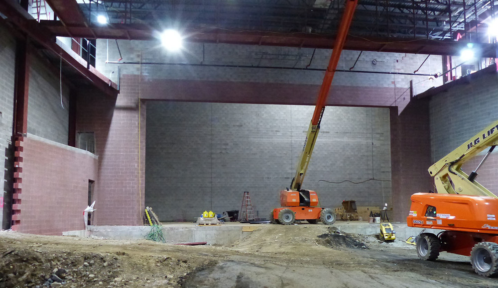 Auditorium Update: Images from 3/13