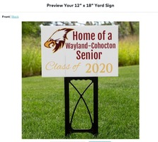 WFD donates funds to purchase signs for every Class of 2020 senior